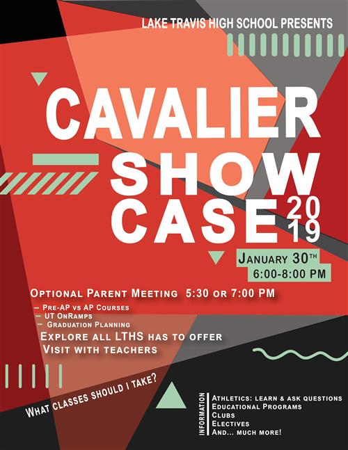 Cavalier Shocase Jan 30, 6-8 pm