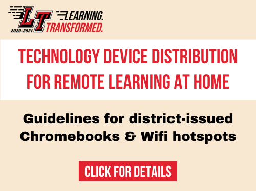 Tech device distribution for remote learning at home