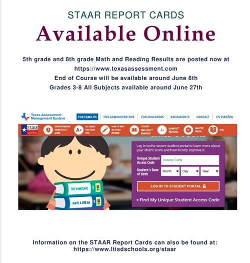 Photo illustration of STAAR Report Card Online Availability Information