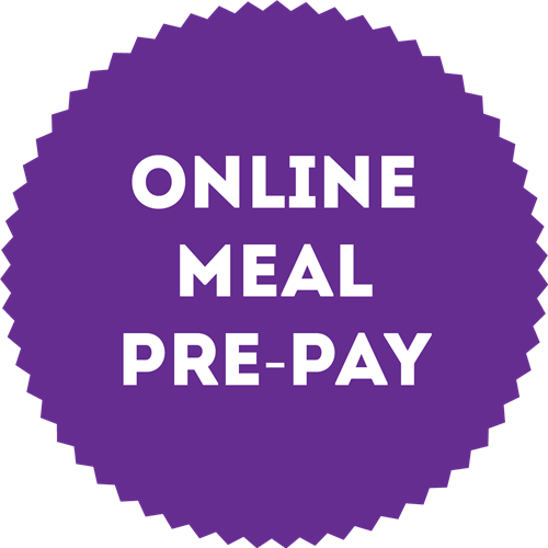 Online Meal Pre-Pay Button