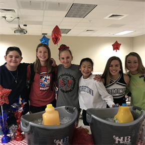 HBMS Student Council preparing breakfast