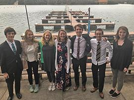 Lake Travis High School Science Fair students pose for group photo