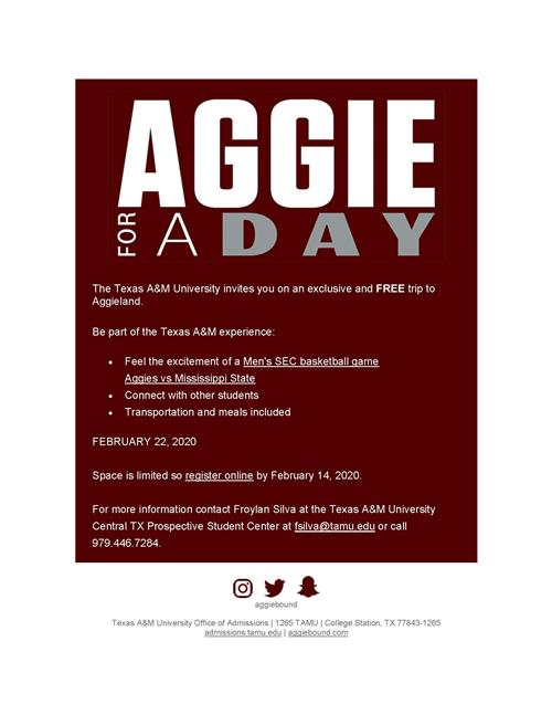 Aggie for a Day