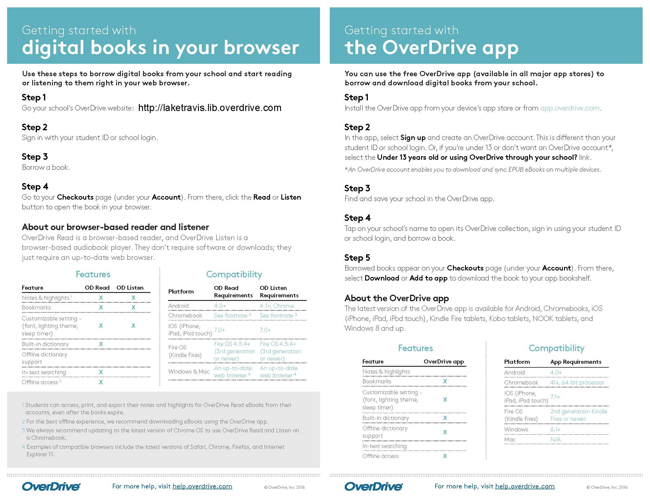 Library Learning Commons / OverDrive Special Collection