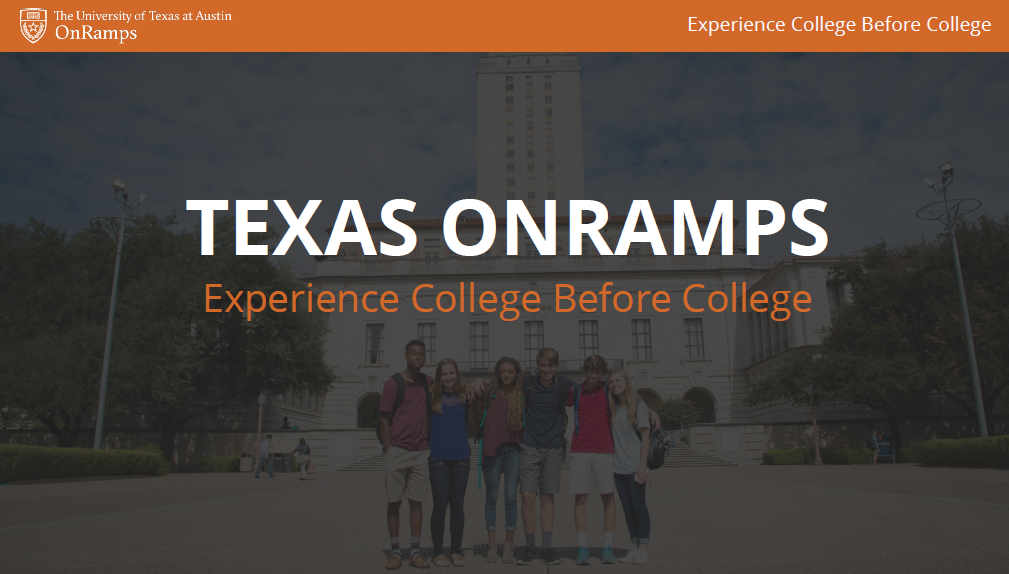 UT Austin OnRamps program graphic