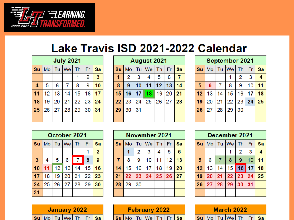 Lake Travis Independent School District / Homepage