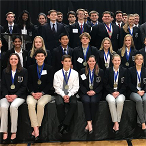45 LTHS DECA students won at district
