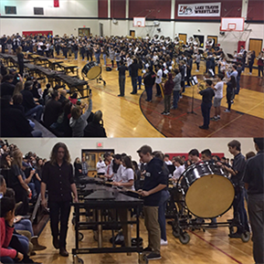 LTMS & HBMS 8th grade musicians perform together