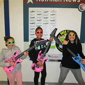 LTISD students Rocked National School Lunch Week